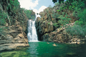 Southern Rockhole is a seasonally flowing waterfall in Nitmiluk National Park  |  Credits NTTC3096