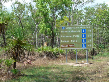 Litchfield National Park road signs | Credits RAB