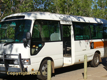 Yellow Water Billabong wildlife cruises  shuttle bus from Cooinda Resort |  Credits RAB