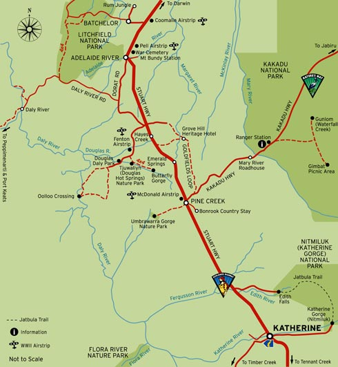 Australia Map Nt.Map Of Katherine And Katherine Gorge Map Of Katherine Gorge