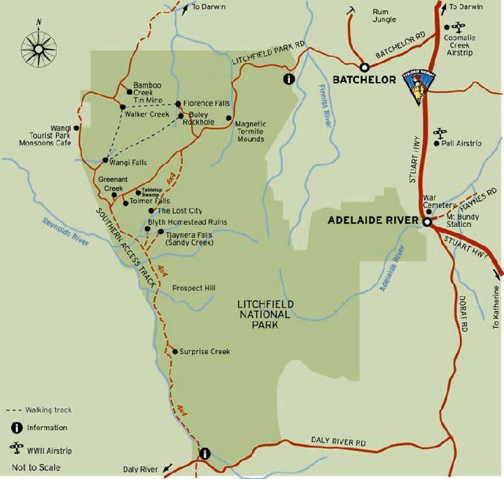 Map of Litchfield National Park 720x684 | Credits NTTC, TourismTopEnd and Parks Australia